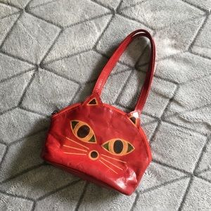 Handbags - Vintage Leather Cat Purse